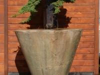 Cone-cast stone