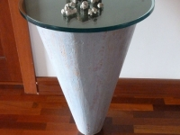 Cone table-mixed media