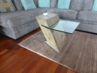 Z table- cast stone-glass